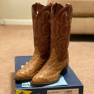 Vintage Tony Lama Natural Ostrich Boots